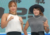 格闘技イベント『RIZIN FIGHTING WORLD GP 2016』の記者会見に出席した(左から)山本美憂、RENA (C)ORICON NewS inc.