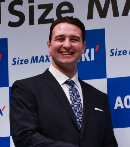 AOKI『Size MAX』事業戦略発表会に登場した元大関・琴欧州の鳴戸親方 (C)oricon ME inc.