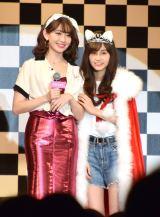 (左から)小嶋陽菜と、姫野佐和子さん=『sweet』専属モデルオーディション (C)ORICON NewS inc.
