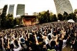 09年ぶりの日比谷野外大音楽堂公演を行ったサンボマスター Photo by 浜野カズシ