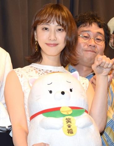 映画『笑う招き猫』完成披露上映会イベントに登壇した松井玲奈 (C)ORICON NewS inc.
