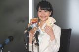 出産を報告した声優の儀武ゆう子(写真は2014年結婚会見時)