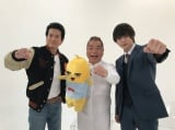 (左から)唐沢寿明、出川哲朗、窪田正孝 (C)2017映画「ラストコップ」製作委員会