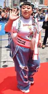 『島ぜんぶでおーきな祭 第9回沖縄国際映画祭』レッドカーペットに登場した渡辺直美 (C)ORICON NewS inc.