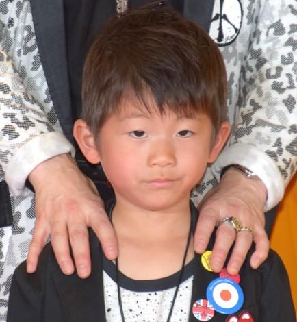 マクドナルドの『親子でナゲットキャンペーン発表会』に出席したダイアモンド☆ユカイの長男・頼音くん (C)ORICON NewS inc.