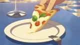 映画『君の名は。』より。瀧がアルバイトしているお店のピザ(C)2016「君の名は。」製作委員会