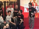 AbemaTV『極楽とんぼ KAKERU TV』で不倫をイジられる大村朋宏(上段左から2人目) (C)ORICON NewS inc.