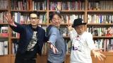 BS無料チャンネル「BS12トゥエルビ」のカルチャー番組『BOOKSTAND.TV』の人気コーナー「メルマ旬報.TV」に出演する(左から)原カントくん、スージー鈴木氏、水道橋博士