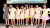(写真左から)伊藤祐奈、「TOY SMILEY」メンバー・さーちゃん、リナティー、こちゃ☆、ゆっち、かののん、まほたん、あみた (C)ORICON NewS inc.