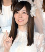 AKB48の48thシングル「願いごとの持ち腐れ」のミュージックビデオ先行上映会に出席したSKE48の松井珠理奈 (C)ORICON NewS inc.