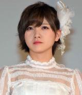 AKB48の48thシングル「願いごとの持ち腐れ」のミュージックビデオ先行上映会に出席した岡田奈々 (C)ORICON NewS inc.