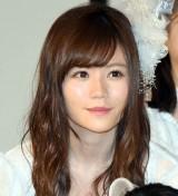 AKB48の48thシングル「願いごとの持ち腐れ」のミュージックビデオ先行上映会に出席した込山榛香 (C)ORICON NewS inc.