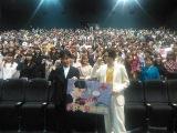埼玉で行われた映画『帝一の國』の舞台あいさつに登場した菅田将暉、永井聡監督