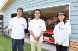 『おぎやはぎの愛車遍歴フェスティバル2017』を開催した(左から)小木博明、矢作兼、自動車評論家の竹岡圭氏