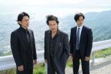 映画『孤狼の血』に出演する(左から)江口洋介、役所広司、松坂桃李 (C)2018「孤狼の血」製作委員会