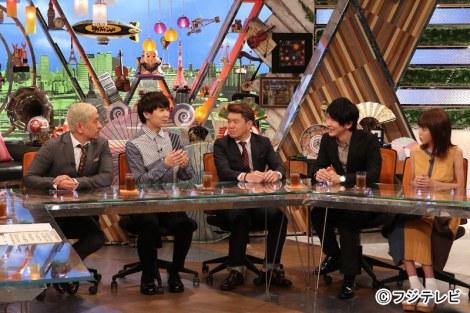 7日放送の『ワイドナショー』(左から松本人志、川谷絵音、ヒロミ、古市憲寿、岡副麻希)