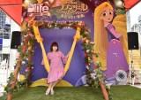 """ラプンツェルをイメージした""""金の髪のブランコ""""を初体験した中川翔子(C)Disney"""
