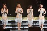 6年半ぶりに初期メンバー4人でステージに立ったMAX(左から)REINA、LINA、MINA、NANA (C)ORICON NewS inc.