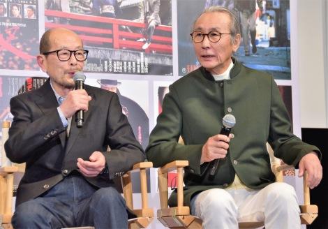 『追憶』公開直前イベントに出席した(左から)降旗康男監督、木村大作氏 (C)ORICON NewS inc.
