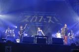 スガシカオ主催フェス『SUGA SHIKAO 20th Anniversaryスガフェス!〜20年に一度のミラクルフェス〜』に出演した水樹奈々、Mummy-D (C)西槇太一
