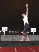 田中理恵、20メートル綱渡りに挑戦