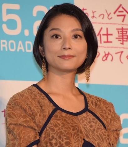 映画『ちょっと今から会社やめてくる』の完成披露試写会に出席した小池栄子 (C)ORICON NewS inc.