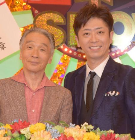 TBS系バラエティー『マイネームSHOW』の収録に参加した(左から)堺正章、後藤輝基 (C)ORICON NewS inc.