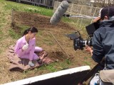 テレビ朝日系ドラマ『女囚セブン』矢島千鶴香役の橋本マナミのオフショット(C)テレビ朝日