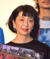 主演映画『いぬむこいり』の初日舞台あいさつにした有森也実 (C)ORICON NewS inc.