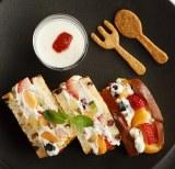 『フルーツサンドウィッチ』(税込価格:1630円)。クッキーとヨーグルトがセットでついてくる