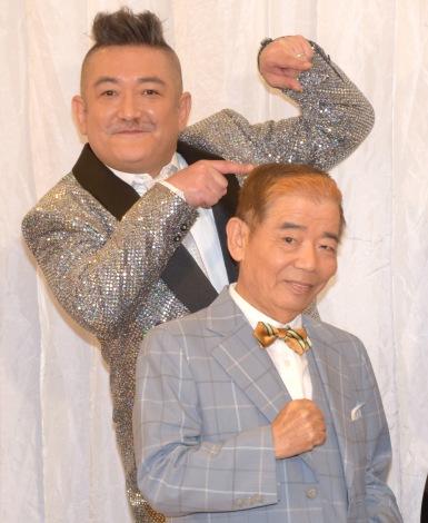 舞台『FILL-IN〜娘のバンドに親が出る〜』の制作発表会見に出席した(左から)後藤ひろひと、池乃めだか (C)ORICON NewS inc.
