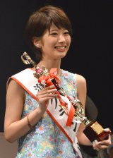 『Miss of Miss CAMPUS QUEEN CONTEST 2016』準グランプリを受賞した学習院大学3年・海老原優香さん (C)ORICON NewS inc.