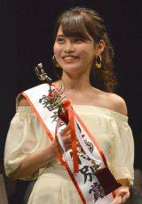『Miss of Miss CAMPUS QUEEN CONTEST 2016』審査員特別賞を受賞した立命館大学1年・石田静香さん (C)ORICON NewS inc.