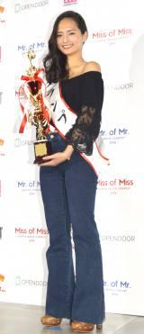『Miss of Miss CAMPUS QUEEN CONTEST 2016』グランプリに輝いた青山学院大学3年・山賀琴子さん (C)ORICON NewS inc.