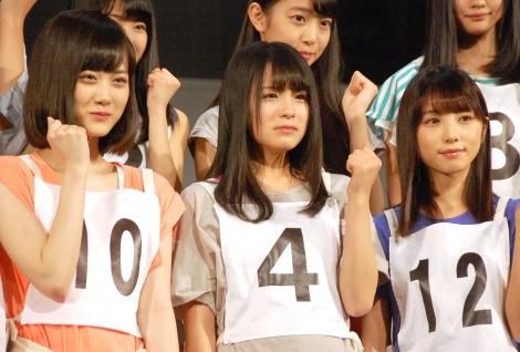 乃木坂46 3期生初公演『3人のプリンシパル』前に意気込みを語った(左から)山下美月、大園桃子、与田祐希 (C)ORICON NewS inc.