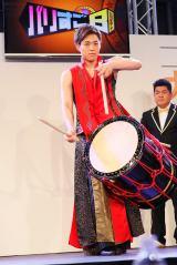 BOYS(仮) 正式メンバー&グループ名発表イベントで自己PRで和太鼓を披露した山口託矢