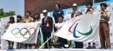『東京2020オリンピック・パラリンピック フラッグツアー フラッグ歓迎セレモニー/江東区』の模様