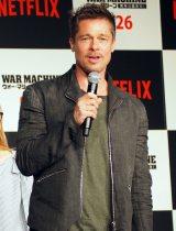 2年半ぶりに来日したブラッド・ピット=Netflixオリジナル映画『ウォー・マシーン:戦争は話術だ!』の会見 (C)ORICON NewS inc.