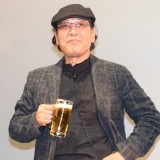 ほろ酔で主演作について語った吉田類=映画『吉田類の「今宵、ほろ酔い酒場で」』の完成披露飲み会イベント (C)ORICON NewS inc.