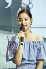 ドラマ『CRISIS 公安機動捜査隊特捜班』のトークイベントに出席した新木優子