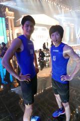 5月11日放送、TBS系『最強スポーツ男子頂上決戦』で注目を浴びた梶原颯。左は総合優勝した野村祐希(C)TBS
