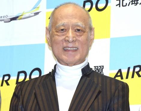 映画『生きとし生けるもの』完成披露試写会に出席した津川雅彦