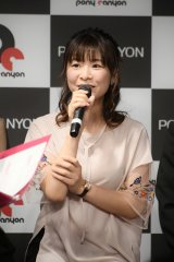 TVアニメ『異世界はスマートフォンとともに。』制作発表会に出席した赤崎千夏