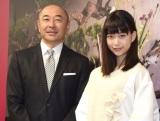 (左から)高橋克実、森川葵 (C)ORICON NewS inc.