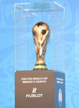 お披露目された『2018FIFAワールドカップロシア大会』優勝トロフィー (C)ORICON NewS inc.