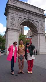 関西テレビ・フジテレビ系、『R-1ぐらんぷり2017優勝者特番 アキラ100% 裸一貫!ニューヨークに行って参りました!』よりニューヨークロケ写真