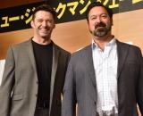 (左から)ヒュー・ジャックマン、ジェームズ・マンゴールド監督 (C)ORICON NewS inc.