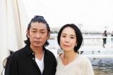カンヌに滞在中の永瀬正敏(左)と河瀬直美監督