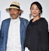 映画『光』初日舞台あいさつに出席した(左から)藤竜也、神野三鈴 (C)ORICON NewS inc.