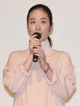 映画『海辺のリア』初日舞台あいさつに出席した黒木華 (C)ORICON NewS inc.